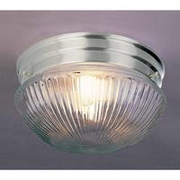 """Volume Lighting V7058 2 Light 9"""" Flush Mount Ceiling Fixture with Clear Ribbed G"""