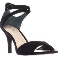 Alfani A35 Ginnii Ankle Strap Sandals - Black - 9