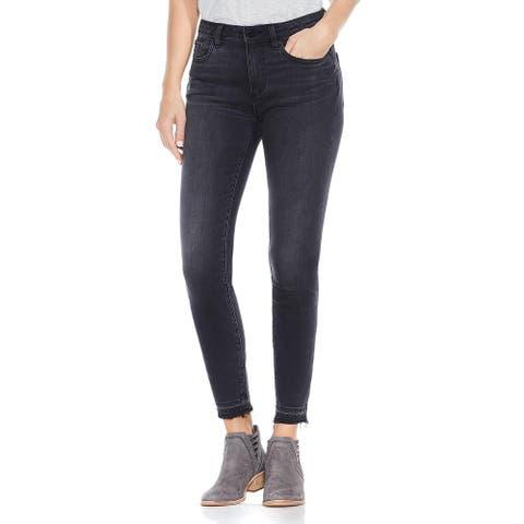 Vince Camuto Womens Skinny Jeans Denim Released Hem - Coal Wash