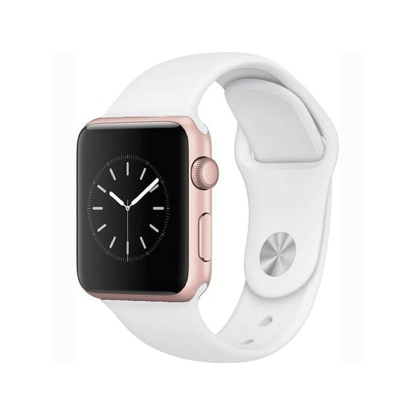 Apple Watch Series 1 38mm Rose Gold Aluminum Case White Band Refurbished Overstock 30766720