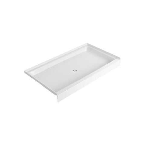 """American Standard 60WL Fiat 60"""" x 34"""" Shower Base with Single Threshold and Cent - White"""