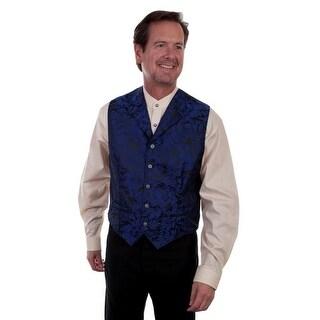 Scully Western Vest Men Notched Lapel Button Front Welt Pockets 521214 - L