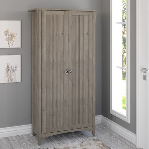 Salinas Tall Storage Cabinet with Doors by Bush Furniture