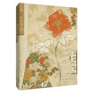 """PTM Images 9-154132  PTM Canvas Collection 10"""" x 8"""" - """"Collaged Botanicals I"""" Giclee Flowers Art Print on Canvas"""