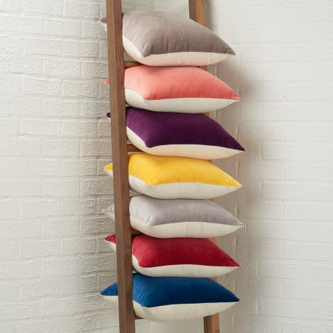 Mina Victory Life Styles Velvet Casual Vintage Throw Pillow