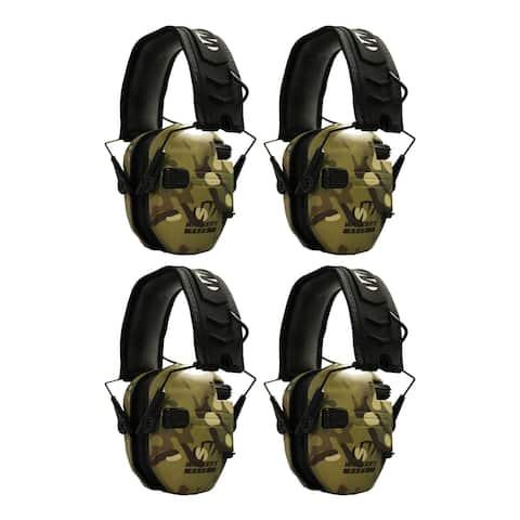 Walker's Razor Slim Electronic Shooting Ear Protectors (4-Pack)