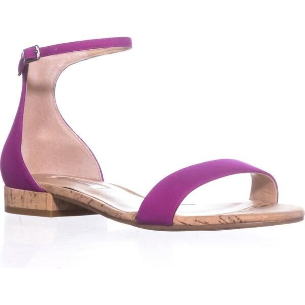 I35 Yaffa Flat Ankle Strap Sandals, Deep Fuchsia - 5.5 us