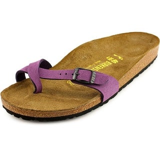 Birkenstock Piazza Women N/S Open Toe Synthetic Purple Slides Sandal