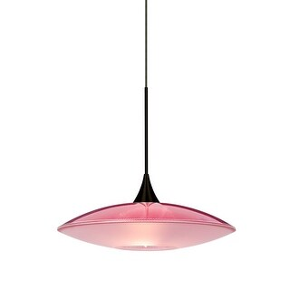 Besa Lighting 1XT-6294RD Spazio Single Light Mini Pendant with Red Handcrafted Glass Shade (2 options available)