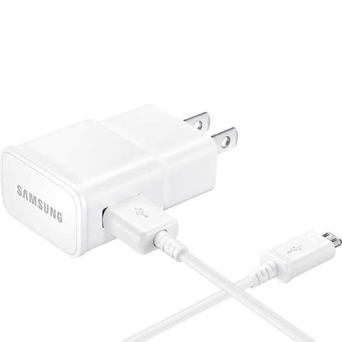 Samsung T-Mobile Galaxy J7 Adaptive Fast Charger Micro USB Cable Kit Wall Charger + 3 FT Micro USB Cable White