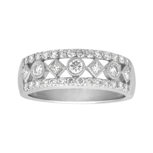 3/4 ct Diamond Band Ring in 14K White Gold