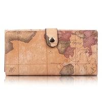 World Map Wallet Purse