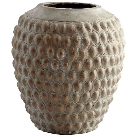 """Cyan Design 09617 Chula 11-3/4"""" Diameter Cement Planter - Golden Antique"""
