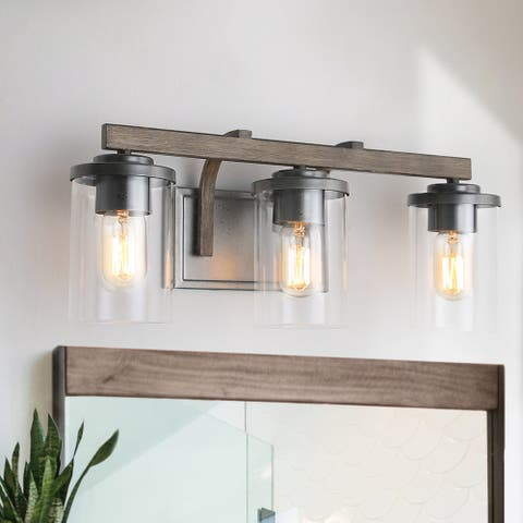 LNC Antique Metal 3-Light Bathroom Vanity Light