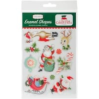 A Very Merry Christmas Enamel Shapes-Shapes