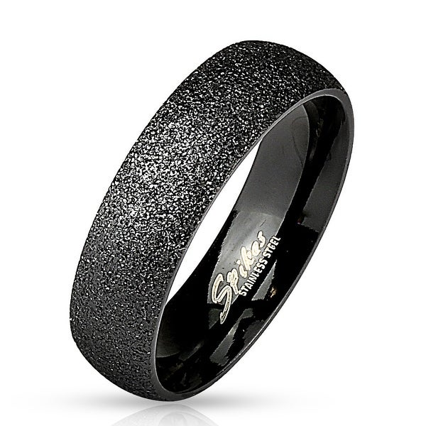Sand Blast Finish Black IP Classic Dome Ring Stainless Steel (Sold Ind.)