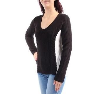 QMACK $89 Womens New 2515 Black White Color Block Sleeveless Sweater M B+B