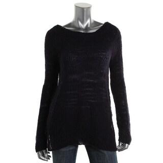 Rachel Rachel Roy Womens Sheer Long Sleeves Pullover Sweater - L