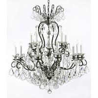 Swarovski Crystal Trimmed Chandelier Lighting Wrought Iron Crystal Chandelier