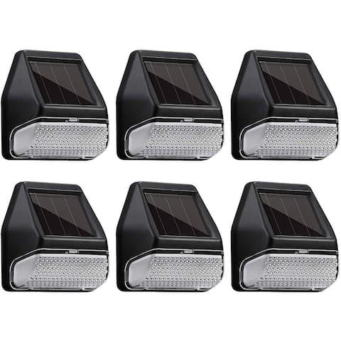6PACK LED Solar-Powered Deck Lights, 4000K Cool White