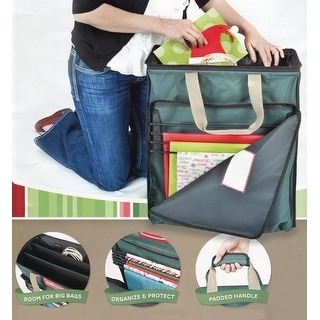 """22"""" Green Tissue and Gift Wrapping Paper Christmas Storage Bag"""