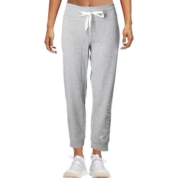 98eabd71a1f4 Calvin Klein Performance Womens Sweatpants French Terry Heathered