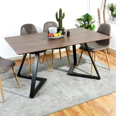 """AOOLIVE 63"""" Wood Morden Style Rectangular Dinning Table"""