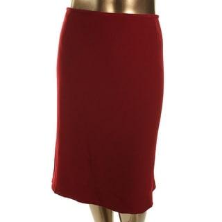 Tahari ASL Womens Plus Vena Textured Knee-Length Pencil Skirt