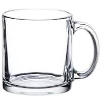 Libbey Robusta 12-Pack Glass Coffee Mug, Clear, 13 Ounce