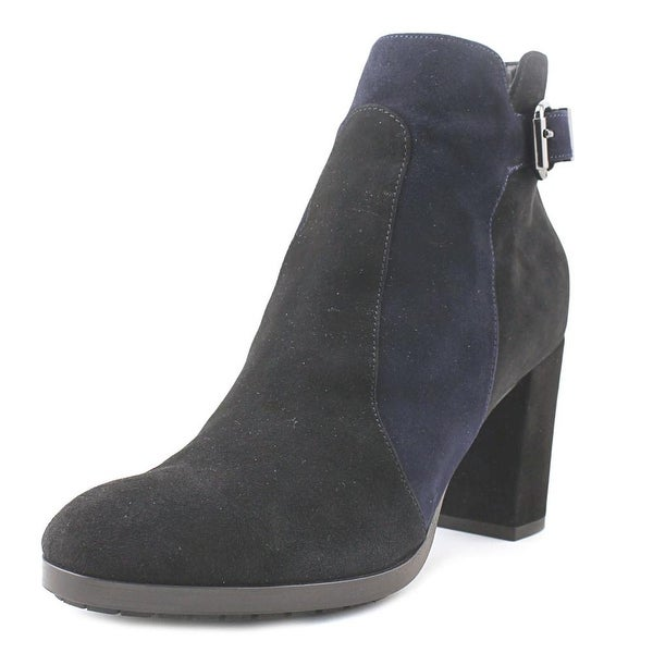 Aquatalia By Marvin K Elianna Women Round Toe Suede Black Ankle Boot