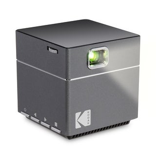 Kodak DLP Cube Mini Portable Projector with 1080p Pico LED HD Quality- Rechargeable with Speakers  HDMI and Micro SD Card