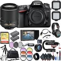 Nikon D7200 DSLR Camera (Body Only) with Nikon AF-S DX NIKKOR 55-200mm Lens Extreme Video Kit International Model