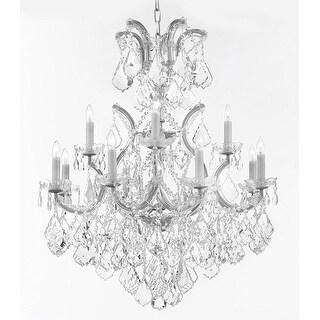 Swarovski Crystal Trimmed Maria Theresa Chandelier Lights Fixture Pendant Ceiling Lamp Dressed with Large, Luxe Crystals