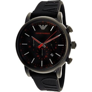 Emporio Armani Men's Luigi AR11024 Black Silicone Quartz Dress Watch