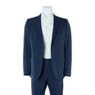 Versace Men's Classic Solid Navy Two Button Suit