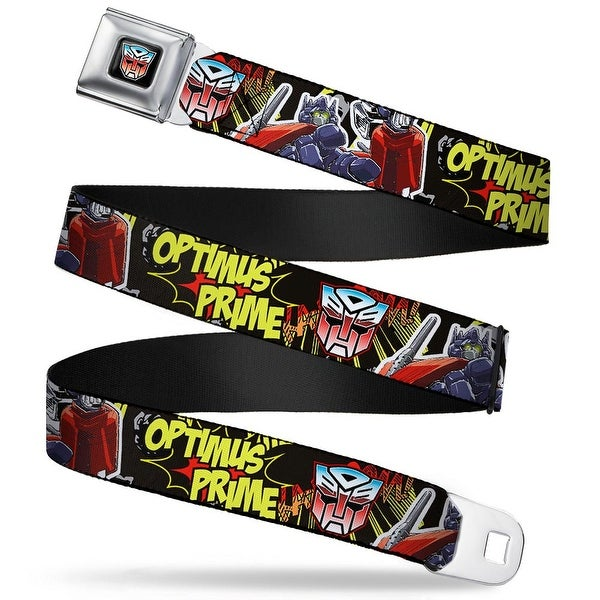 Transformers Autobot Logo Full Color Black Blue Red Fade Optimus Prime Seatbelt Belt