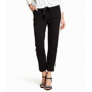 Abound Black Womens Size Large L Pull-On Colorblock Stretch Pants