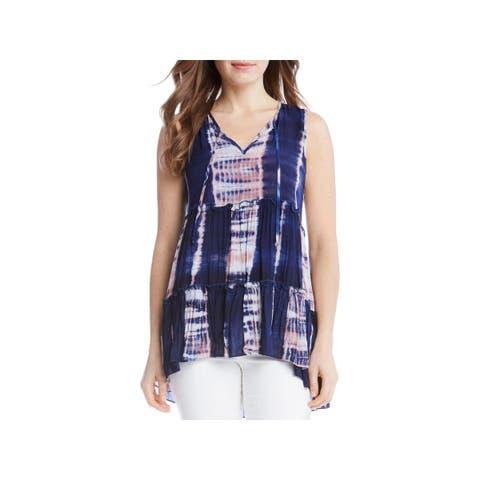 Karen Kane Womens Pullover Top Printed Sleeveless