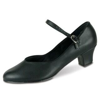Danshuz Womens Black Versatile Character Heel Dance Shoe Size 4-12