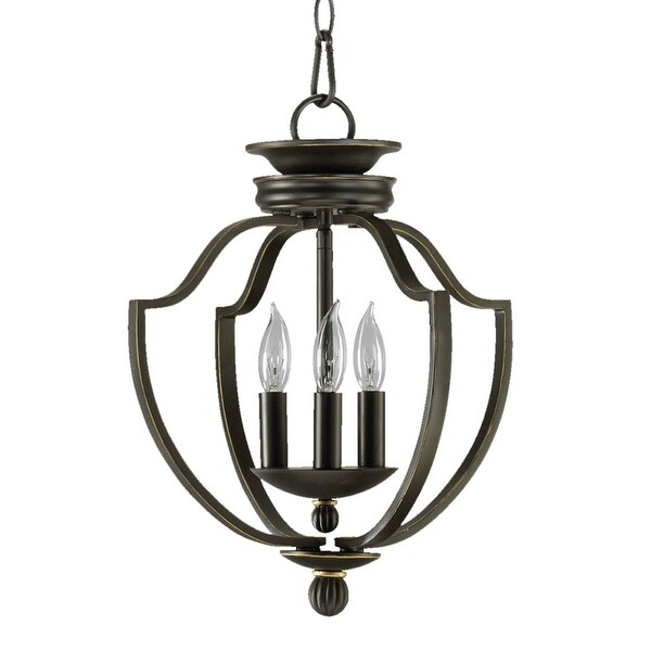 Quorum International 6772-3 Three Light Foyer Chandelier from the Cole Collection - old world