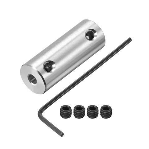 Shaft Coupling 2mm to 3mm Bore L26xD10 Robot Motor Wheel Rigid Coupler w Spanner - 2mm to 3mm