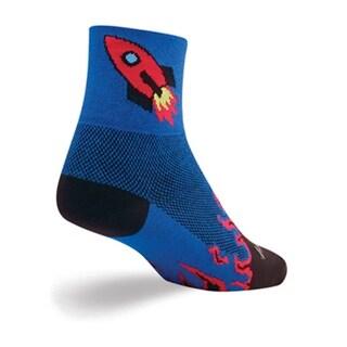 SockGuy Classic 3in Rocket Man Cycling/Running Socks - rocket man