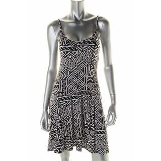 Aqua Womens Casual Dress Printed Spaghetti Straps - xs