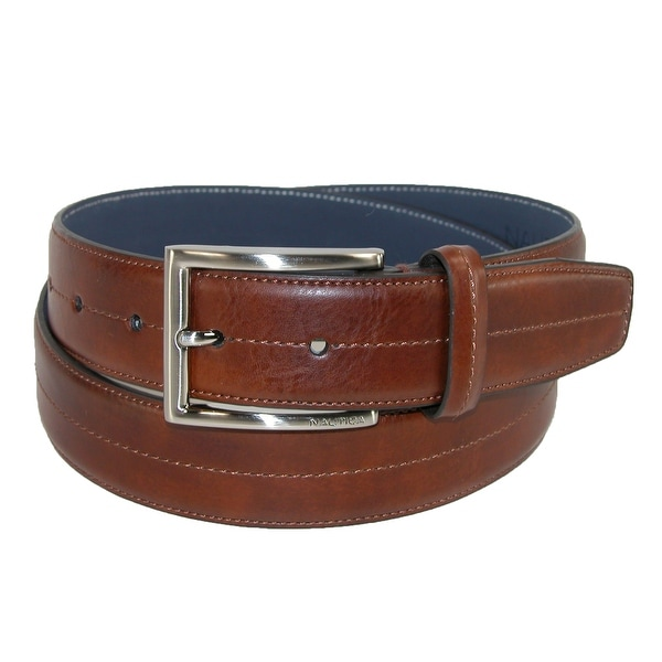 Nautica Men's Center Stitch Belt with Feather Edge