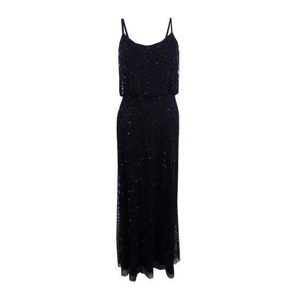 787c665a33ebb Shop Adrianna Papell Women's Petite Beaded Blouson Gown (12P, Black) -  Black - 12P - Free Shipping Today - Overstock - 24018639