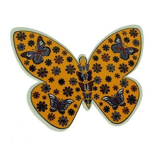 Handmade Butterfly Shape Turkish Ceramic Pottery Tile Trivet