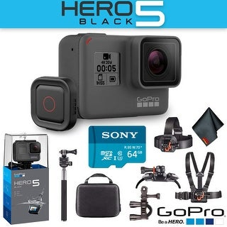 GoPro Hero5 Black with Voice Activated Remote Extreme Outdoor Action Kit