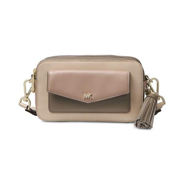 Shop Michael Kors Small Pocket Tri Color Camera Bag Overstock 28721350 Oatmeal