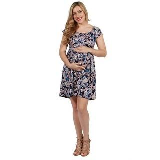 24seven Comfort Apparel Lucy Maternity Dress