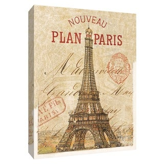 """PTM Images 9-154840  PTM Canvas Collection 10"""" x 8"""" - """"Letter from Paris"""" Giclee Eiffel Tower Art Print on Canvas"""